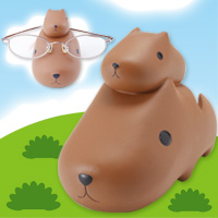 メガネスタンド カピバラさん 092337 パール 眼鏡スタンド かわいい キャラクターグッズ フィギュア
