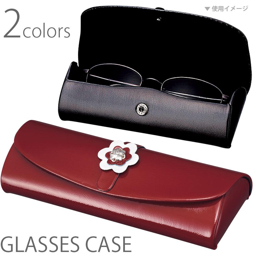 メガネケース セミハード EH-14 パール 眼鏡ケース めがねケース かわいい おしゃれ ギフト プレゼント レディース