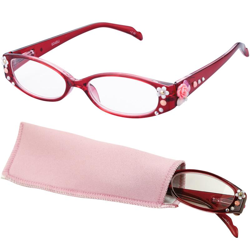 老眼鏡 COSTADO [コスタード] エレガンス・ローズ RE 女性 おしゃれ シニアグラス レディース プレゼント