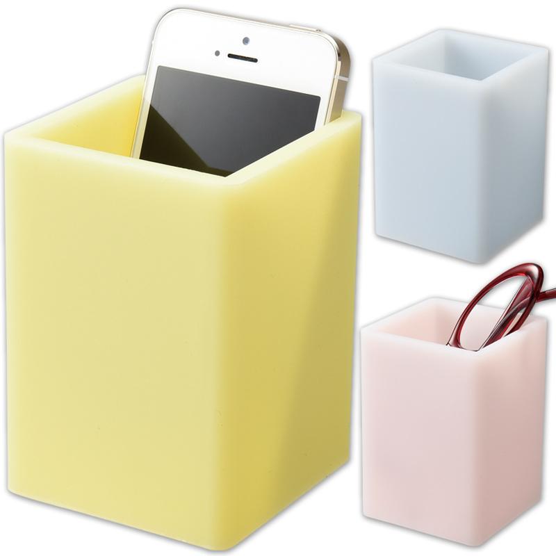 蓄光 メガネスタンド A [角型] 眼鏡スタンド スマホ リモコン ラック 小物入れ 雑貨 インテリア 光る シンプル 収納