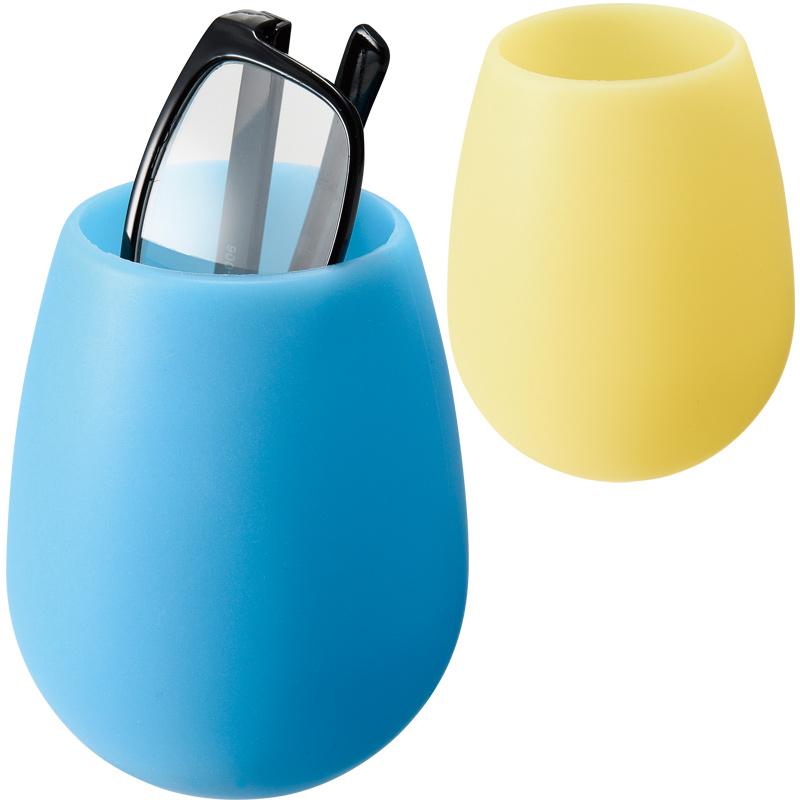 蓄光 メガネスタンド B [丸型] 眼鏡スタンド ペン立て 小物入れ 雑貨 インテリア 光る シンプル 収納