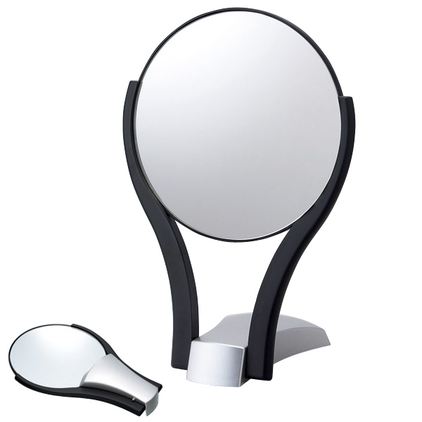 折りたたみ式鏡 プラスチック 鏡 スタンドミラー 卓上ミラー 卓上鏡 メイク 化粧鏡 丸型