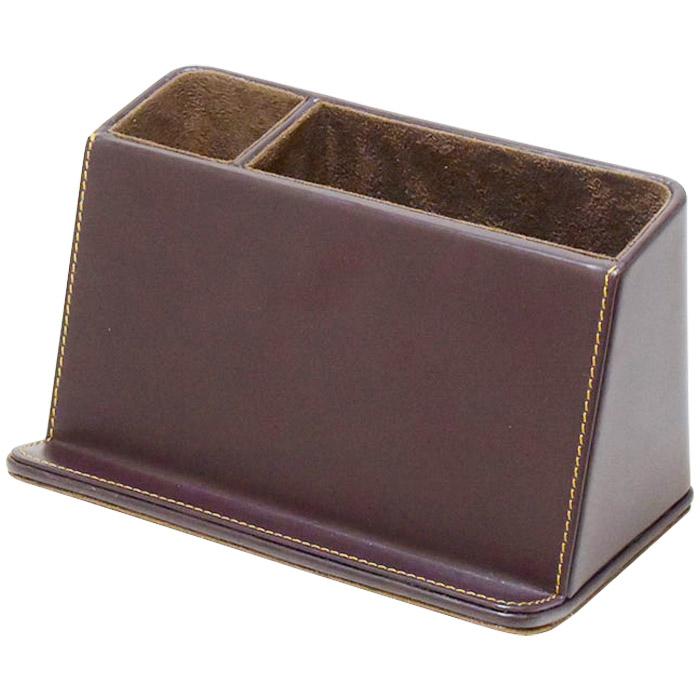 ベーシック デスクオーガナイザー ブラウン かわいい おしゃれ ギフト プレゼント スマホ スマートフォン 小物入れ ロジエ Rosier