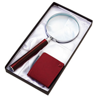 虫眼鏡 拡大鏡ギフトセット S-3000 デラックスルーペ ポケットルーペ 池田レンズ メインイメージ