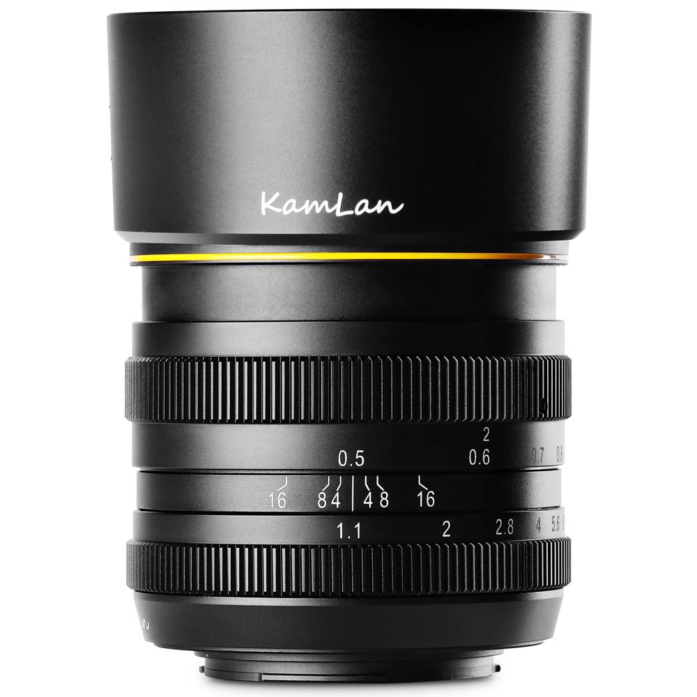 ミラーレス一眼 カメラ 交換レンズ 単焦点レンズ FS 50mm F1.1 キヤノンEF-M canon ソニーE sony フジフィルム Fuji X マイクロフォーサーズ MFT KAMLAN カムラン