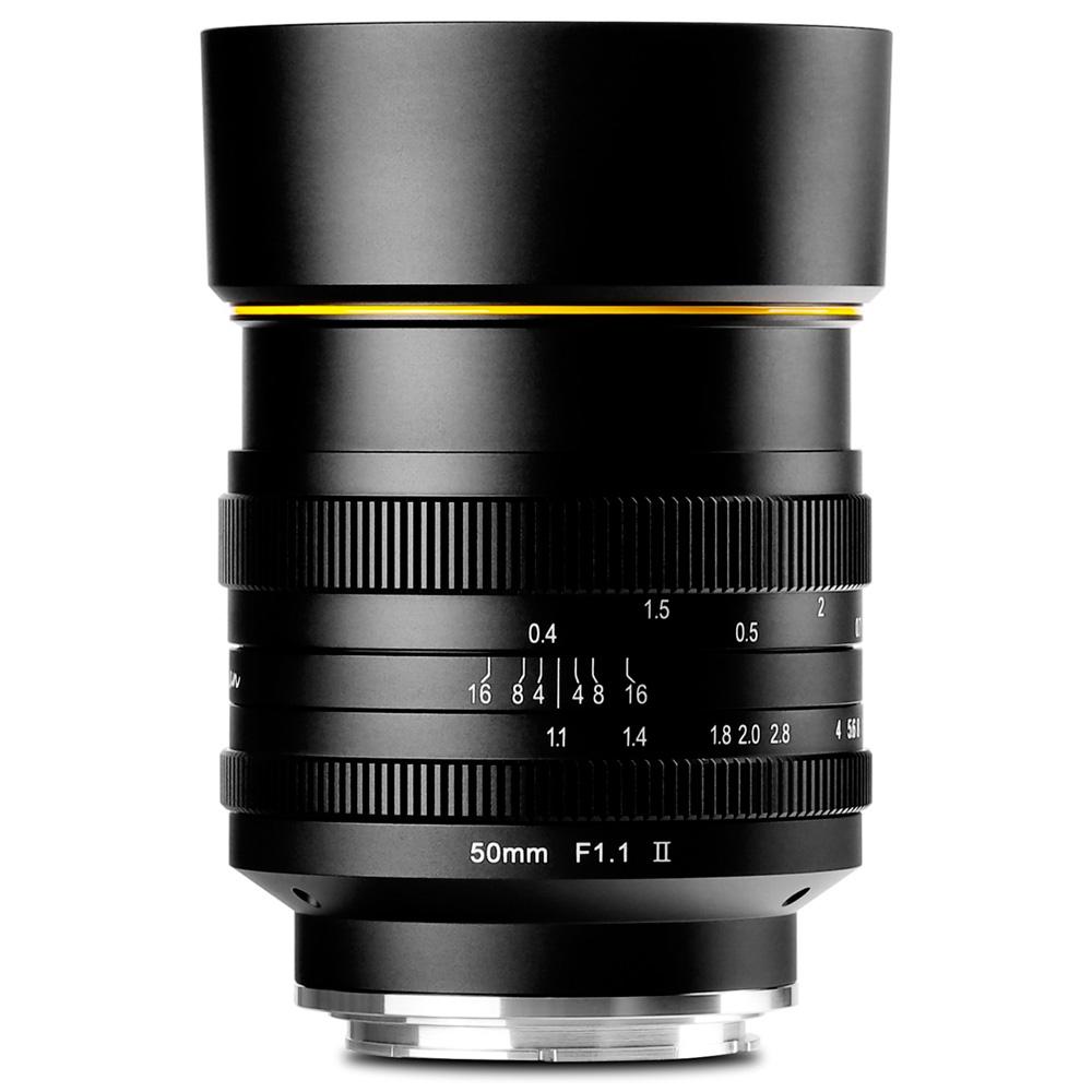 ミラーレス一眼 カメラ 交換レンズ 単焦点レンズ FS 50mm F1.1II キヤノンEF-M canon ソニーE sony フジフィルム Fuji X マイクロフォーサーズ MFT KAMLAN カムラン