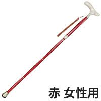 カイノス真田 赤 女性用 折りたたみ杖 ウォーキングステッキ 杖 SINANO 真田紐 杖 つえ ステッキ 戦国時代 サムライヒモ 和柄