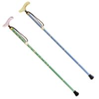 ウォーキングステッキ 杖 カイノス トラベラー T-1 花 KOMON 折りたたみ ステッキ 1本 杖 つえ ステッキ 敬老の日 介護 歩行訓練