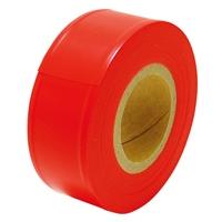 マーキングテープ 30mm×50m 蛍光オレンジ 73800 測量 測量用品 測量現場 植林 樹木調査 目印 シンワ測定