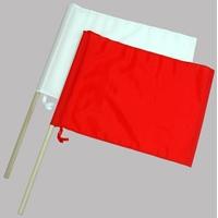 旗 工事用 ナイロン製 2本組 小 76909 工事現場 合図旗 赤白 誘導 シンワ測定