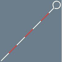ピンポール スチール製 30cmΦ4 76927 スチール製 測量 測量用品 シンワ測定