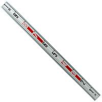 標尺 合板アルミ枠製 1m 巾63mm アルミ アルミ製 測量 計測 シンワ測定