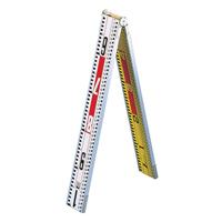 標尺 合板アルミ枠製 1m 巾63mm 二ツ折 アルミ アルミ製 測量 計測 シンワ測定