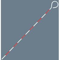 ピンポール スチール製 60cmΦ6 76978 スチール製 測量 測量用品 シンワ測定