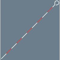 ピンポール スチール製 1m Φ8 スチール製 測量 測量用品 シンワ測定