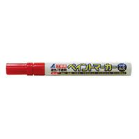 ペイントマーカー 赤 中字 丸芯 工事用 78415 工事用 マーカー 大工道具 基準出し シンワ測定