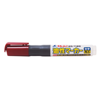 油性マーカー 赤 中字 角芯 工事用 78431 工事用 マーカー 大工道具 基準出し シンワ測定