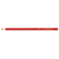 鉛筆型クレヨン 赤 工事用 3本入 78440