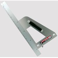 丸ノコガイド定規 エルアングル 60cm併用目盛 左きき用 77805 測定機器 測定工具 側量用品 定規 大工道具 シンワ測定