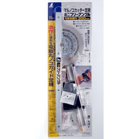 丸ノコガイド定規 ミニフリーアングル 30cm 77857 測定機器 測定工具 側量用品 定規 大工道具 シンワ測定