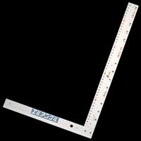 丸ノコガイド定規 エルアングル 50cm併用目盛 取手なし 77858 測定機器 測定工具 側量用品 定規 大工道具