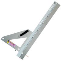 丸ノコガイド定規 エルアングル 1m 併用目盛 補助板付 77901 測定機器 測定工具 側量用品 定規 大工道具 シンワ測定
