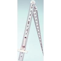 テーパーゲージ 1〜15mm 直尺付 62612 ゲージ 工場用 工具 測定工具 測定機器 測定用品 シンワ測定