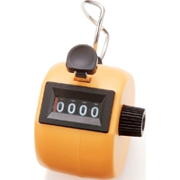 数取器 C プラスチック製 手持型 イエロー 75089 工場用 工具 交通量 入場者数 野鳥の観察 カウント カウンター シンワ測定