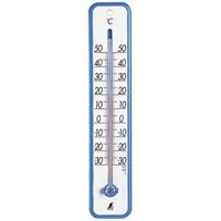 温度計 プラスチック製 30cmブルー 48361 シンワ測定