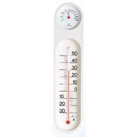 温湿度計 PCオーバル ホワイト&ホワイト 48927