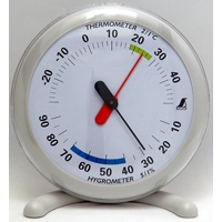 温湿度計 Q-1 丸型 15cmライトグレー 70495 温度計 湿度計 健康管理 省エネ ベビー用品 シンワ測定