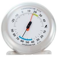温湿度計 Q-2 丸型 10cmライトグレー 70497 温度計 湿度計 健康管理 省エネ ベビー用品 シンワ測定