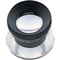 虫眼鏡 ルーペ T-1 高倍率 スケール付 20mm 15倍 75570 0.1mm単位 宝石鑑定 検査 測量 スケール付きルーペ スケール シンワ測定