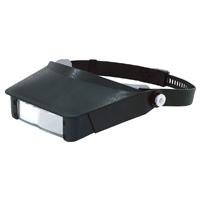 虫眼鏡 双眼ヘッドルーペ W-4 75735 虫めがね 工作 検品 検査 模型製作 とげ抜き 耳かき 読書 手芸 裁縫 園芸 シンワ測定