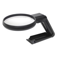 虫眼鏡 ルーペ A-7 リーディング用 90mm 2倍&4倍 二重焦点 スタンドライト付 75755 シンワ測定