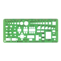 テンプレート TD-2 家具記号定規(小)1/100 66008 製図 設計 図面 シンワ測定
