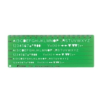 テンプレート TE-6 英数字記号定規 66014 製図 設計 図面 シンワ測定