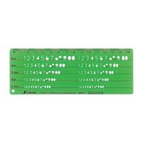 テンプレート TE-9 数字記号定規 66016 製図 設計 図面 シンワ測定