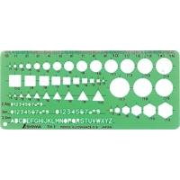 テンプレート TH-1 一般総合定規(小) 66021 製図 設計 図面 シンワ測定