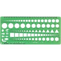 テンプレート TH-5 一般総合定規(中) 66025 製図 設計 図面 シンワ測定