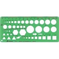 テンプレート TJ-1 ボルトナット定規 66026 製図 設計 図面 シンワ測定