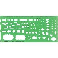 テンプレート TL-1 矢線記号定規 66029 製図 設計 図面 シンワ測定