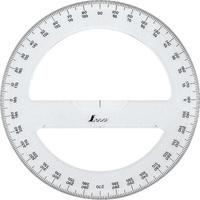 分度器 アクリル製 360° 15cm全円 74926 製図 図面 シンワ測定
