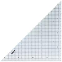 三角定規 アクリル製 30cm方眼目盛付 2枚組 77062 製図 図面 定規 シンワ測定