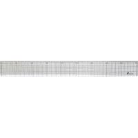 方眼直定規 アクリル製 45cm 77097 製図 定規 直尺 方眼目盛付 シンワ測定
