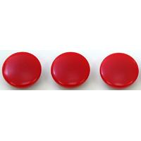 カラーマグネット Φ30 赤 3ヶ入 72015 マグネット 磁石 黒板 掲示 シンワ測定