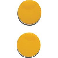 マグクリップ 丸型 A 黄 2ヶ入 72038 マグネット 磁石 黒板 掲示 シンワ測定