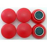 強力カラーマグネット ヨーク付 Φ20 赤 6ヶ入 72052 マグネット 磁石 黒板 掲示 シンワ測定