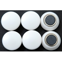 強力カラーマグネット ヨーク付 Φ20 白 6ヶ入 72053 マグネット 磁石 黒板 掲示 シンワ測定