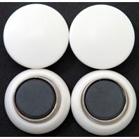 強力カラーマグネット ヨーク付 Φ30 白 4ヶ入 72063 マグネット 磁石 黒板 掲示 シンワ測定